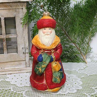 Винтаж ручной работы. Ярмарка Мастеров - ручная работа БОЛЬШАЯ старинная немецкая елочная игрушка Дед Мороз. Handmade.