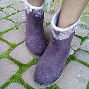 Обувь ручной работы. Ярмарка Мастеров - ручная работа Валенки  из шерсти Танечка. Handmade.
