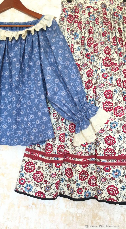 рубашка с русским народным платком