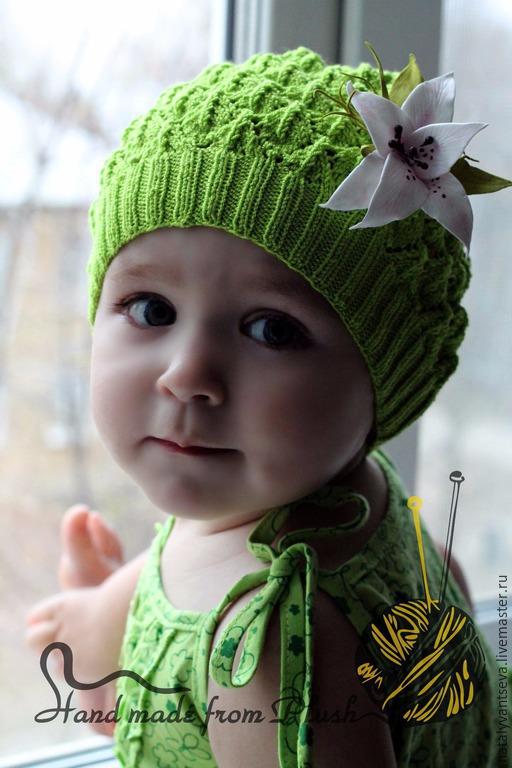Обучающие материалы ручной работы. Ярмарка Мастеров - ручная работа. Купить МК-описание шапочки спицами Мелисса. Handmade.