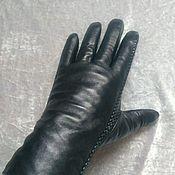 Перчатки ручной работы. Ярмарка Мастеров - ручная работа Перчатки из натуральной кожи на мутоне.. Handmade.