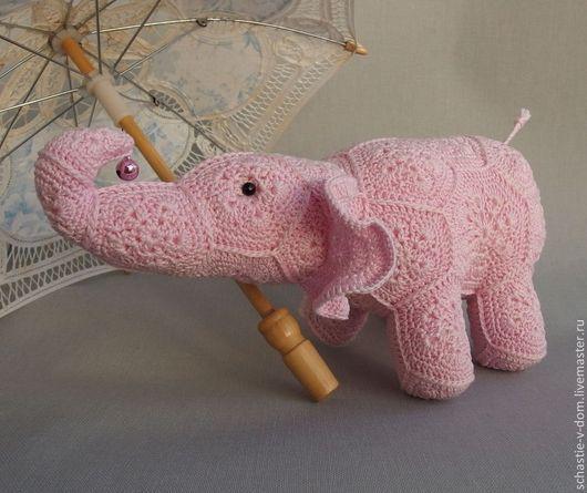 Игрушки животные, ручной работы. Ярмарка Мастеров - ручная работа. Купить Розовый слон.. Handmade. Бледно-розовый, игрушка в подарок