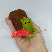handmade. Livemaster - original item Felt toy: snail. Handmade.