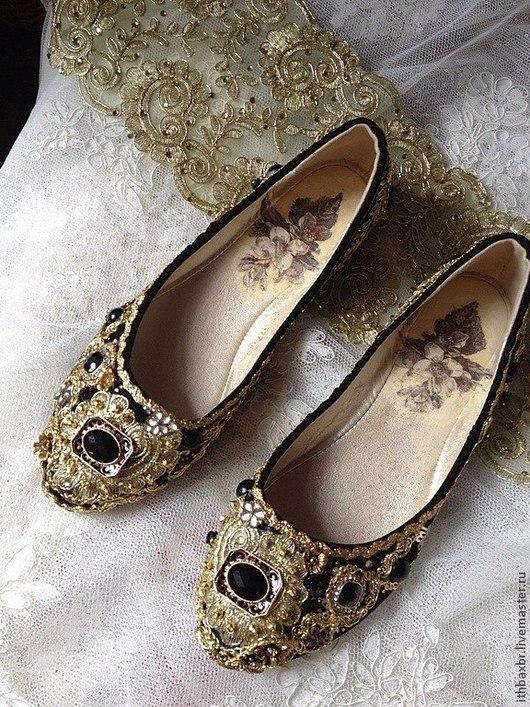 """Обувь ручной работы. Ярмарка Мастеров - ручная работа. Купить Балетки""""Сицилийская грешница""""в стиле DG. Handmade. Дольче габбана, обувь"""