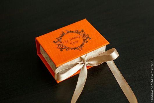 Подарочная упаковка ручной работы. Ярмарка Мастеров - ручная работа. Купить Коробочка для флешки. Handmade. Рыжий, коробочка, футляр для флешки