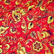 """Материалы для творчества ручной работы. Ярмарка Мастеров - ручная работа Ткань """"Хохлома"""". Handmade."""