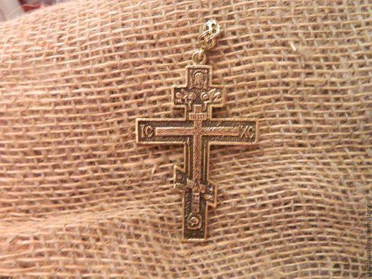 Обереги, талисманы, амулеты ручной работы. Ярмарка Мастеров - ручная работа. Купить Крест из бронзы. Handmade. Крест, крестик нательный