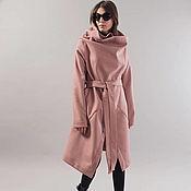 Одежда handmade. Livemaster - original item Pale Pink Wool blend Coat/Winter Cape Coat/Cashmere Wool Coat/F1743f. Handmade.