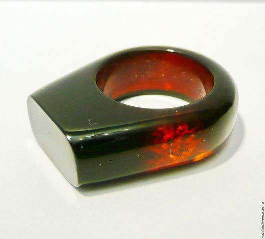Кольца ручной работы. Ярмарка Мастеров - ручная работа. Купить Кольцо из янтаря. размер 17.5-18. Handmade. Желтый