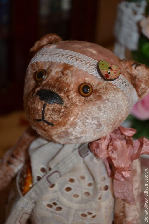 Мишки Тедди ручной работы. Ярмарка Мастеров - ручная работа. Купить Мишка винтажный,,Зиночка,,. Handmade. Бежевый, шебби шик