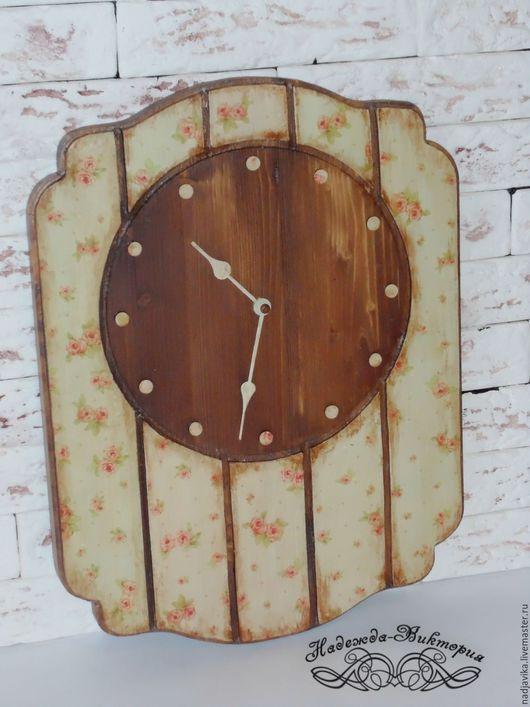 """Часы для дома ручной работы. Ярмарка Мастеров - ручная работа. Купить Часы настенные """"Бабушкин ситец"""". Handmade. Часы настенные"""