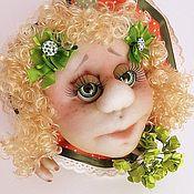 Сувениры и подарки handmade. Livemaster - original item Textile doll Popik on luck Orange Summer . textile doll. Handmade.