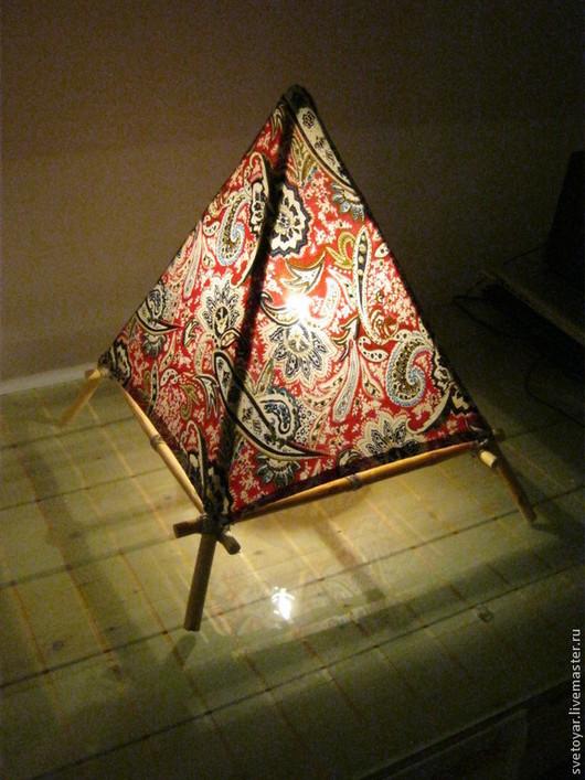 Освещение ручной работы. Ярмарка Мастеров - ручная работа. Купить Пирамида света. Handmade. Светильник ручной работы, тепло
