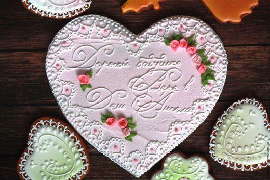 Подарок бабушке. Имбирные пряники ручной работы. Сделаны с любовью. Прянички для любименьких.