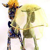 Куклы и игрушки ручной работы. Ярмарка Мастеров - ручная работа Жирафы молодожёны ))))). Handmade.