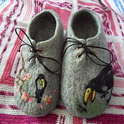 """Обувь ручной работы. Ярмарка Мастеров - ручная работа Тапочки войлочные  """"Охота"""". Handmade."""