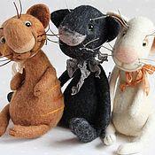 Куклы и игрушки ручной работы. Ярмарка Мастеров - ручная работа Котики валяные. Handmade.