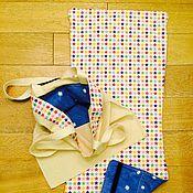 Комплект хлопковый матрасик для коляски Maclaren и эко-сумка