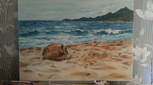 Пейзаж ручной работы. Ярмарка Мастеров - ручная работа. Купить Пляж Самуи. Handmade. Комбинированный, пляж, песчаный, Кокос, море
