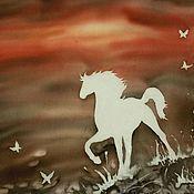 Платок батик Лошадь шелк