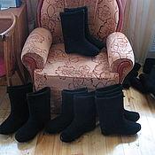Обувь ручной работы. Ярмарка Мастеров - ручная работа валенки мужские самовалки черные. Handmade.