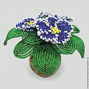 Цветы и флористика handmade. Livemaster - original item Terry violet bead in a vase of onyx. Handmade.