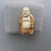 Винтаж handmade. Livemaster - original item Vintage brooch Hotei / Laughing Buddha. Handmade.