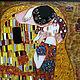 """Люди, ручной работы. Ярмарка Мастеров - ручная работа. Купить Густав Климт """"Поцелуй"""". Handmade. Климт, Витраж, весна, любовь"""