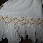 Одежда ручной работы. Ярмарка Мастеров - ручная работа Юбка белая с кружевами и шитьем. Handmade.
