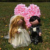 Куклы и пупсы ручной работы. Ярмарка Мастеров - ручная работа Текстильная, интерьерная свадебная пара. Handmade.