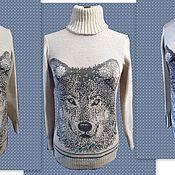 """Одежда ручной работы. Ярмарка Мастеров - ручная работа Свитер """" Волк """". Handmade."""