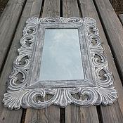 Для дома и интерьера ручной работы. Ярмарка Мастеров - ручная работа Зеркало в деревянной раме, стиль прованс. Z12.. Handmade.