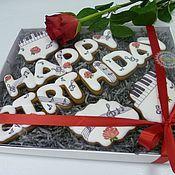 """Сувениры и подарки ручной работы. Ярмарка Мастеров - ручная работа Расписные пряники козули """"Happy Birthday"""" набор. Handmade."""