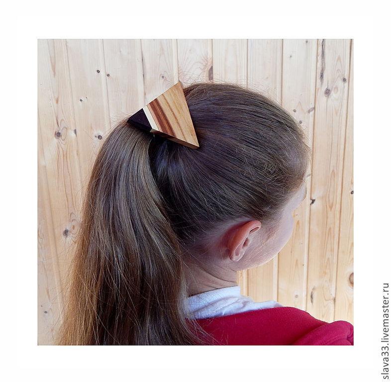 Children's Jewelry handmade. Livemaster - handmade. Buy elastic hair band, made of wood.Gift, wooden hair, striped