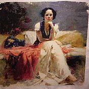 Картины и панно ручной работы. Ярмарка Мастеров - ручная работа Вышивка крестом  по картине Пино Даени. Handmade.