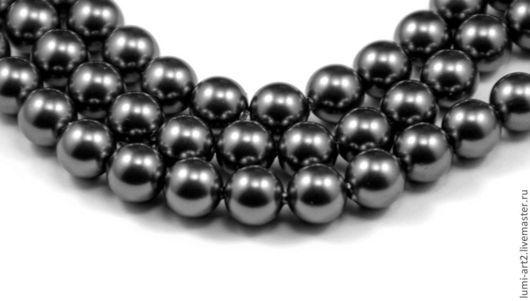 Для украшений ручной работы. Ярмарка Мастеров - ручная работа. Купить 6мм Dark Grey Жемчуг Сваровски 617 Swarovski Perl 20 шт. Handmade.