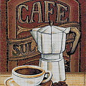 Материалы для творчества handmade. Livemaster - original item Kits for embroidery with beads Coffee. Handmade.