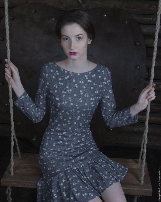 Платье из хлопка с вискозой  Дизайнер: Ирина Плотникова
