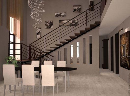Дизайн интерьеров ручной работы. Ярмарка Мастеров - ручная работа. Купить дизайн интерьера  коттеджа. Handmade. Дизайн интерьера дома