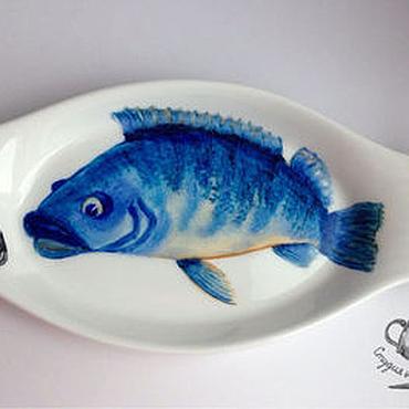 """Посуда ручной работы. Ярмарка Мастеров - ручная работа Блюдо """"Рыбка"""". Handmade."""