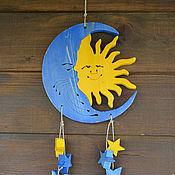 Для дома и интерьера handmade. Livemaster - original item Decor for home Sun and Moon with stars. Handmade.