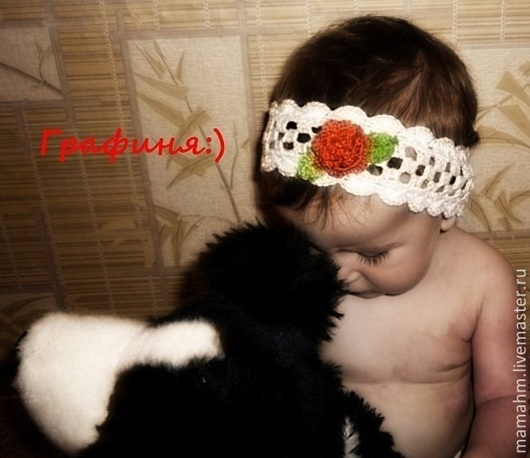 Повязки ручной работы. Ярмарка Мастеров - ручная работа. Купить Повязка на голову для девочки. Handmade. Разноцветный, повязка крючком, на голову