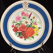 "Винтаж ручной работы. Ярмарка Мастеров - ручная работа Редкая памятная тарелочка, ""Букетик на стенуот Royal Worcester,Англия. Handmade."