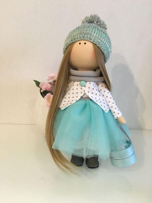 Коллекционные куклы ручной работы. Ярмарка Мастеров - ручная работа. Купить Интерьерная кукла. Handmade. Бирюзовый, кукла, портретная кукла