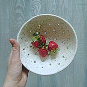 Посуда ручной работы. Ярмарка Мастеров - ручная работа Белая миска для ягод. Handmade.