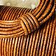 Для украшений ручной работы. Ярмарка Мастеров - ручная работа. Купить Шнур кожаный (арт.к14) 2 мм, античный/винтажный горчичный коричневый. Handmade.