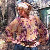"""Одежда ручной работы. Ярмарка Мастеров - ручная работа Блуза с длинным рукавом """"Ирис"""". Handmade."""