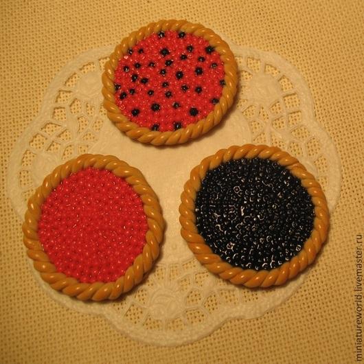 Миниатюра ручной работы. Ярмарка Мастеров - ручная работа. Купить Вишневый, черничный, ягодный пироги 1:12. Handmade. Пирог