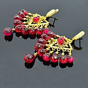 Украшения handmade. Livemaster - original item Earrings Chandler Red Spinel Handmade Designer earrings. Handmade.