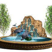 Дизайн и реклама handmade. Livemaster - original item Fountain-dolphins. Handmade.